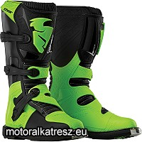 Thor BLITZ S5 off-road fekete-zöld cross/enduro/ATV csizma 49-es (14)
