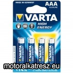 Varta High-Energy AAA mikro elem 4db
