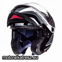 MT Atom SV Tarmac Gloss and Matt Black White felnyitható sisak XXL 105236578
