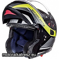 MT Atom SV Tarmac Gloss and Matt Black Fluor Yellow felnyitható sisak M 105236585